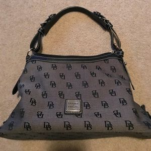 Dooney & Bourke Signature Logo Hobo Purse